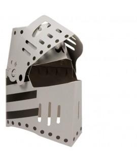 Casco de Caballero en cartón rígido. Medidas totales: 35x27x22