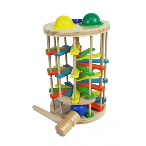 Torre de Golpear de Madera con martillo juego para motricidad