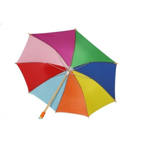 Paraguas infantil de madera Arcoiris. Medidas: 74xØ86 cm.