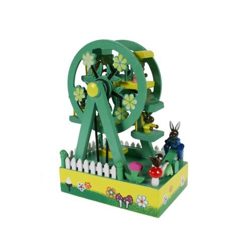 Caja de música noria de madera juguete infantil decoración regalo