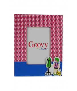 Marco foto infantil de madera con color rosa y azul regalo original