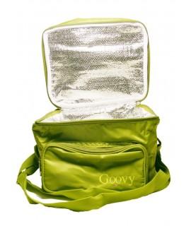 Grande boîte à lunch isotherme verte pour enfants