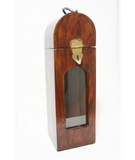 Caja botellero en madera maciza de acacia caja para una botella de vino estilo rustico. Medidas 40x12x12 cm.