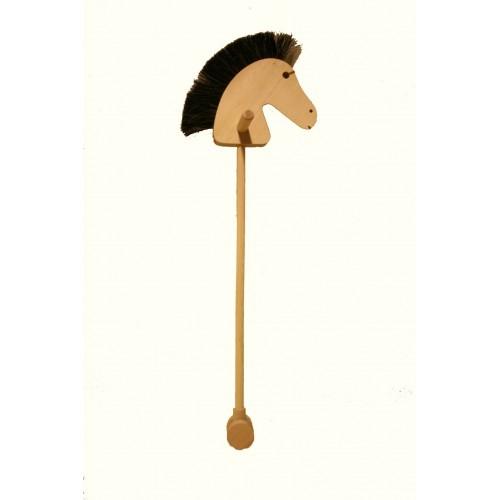 Caballito de palo de madera con cresta de pelo