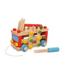 Cotxe de Arrossegament Construcció de fusta.