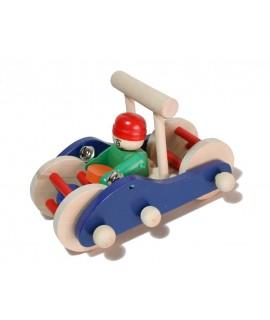 Cotxet de fusta massissa per empènyer o arrossegar