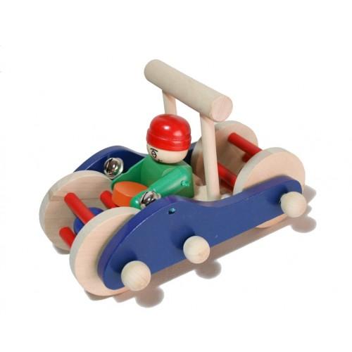 Juguete arrastre empuje madera cochecito juego de palo para niños niñas