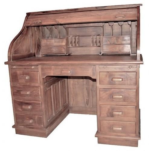 Escritorio de madera maciza de teca de estilo americano  para ambiente rustico