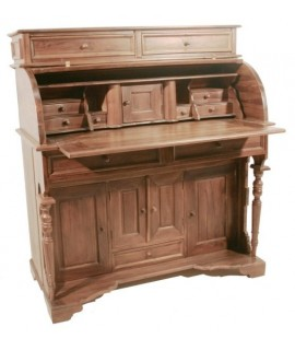 Escriptori Americà de fusta massissa de teca. Mesures: 117x104x54 cm.