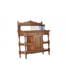 Moble bar de fusta de caoba per a cuina menjador