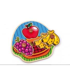 Puzzle encajable de madera con formas de Frutas