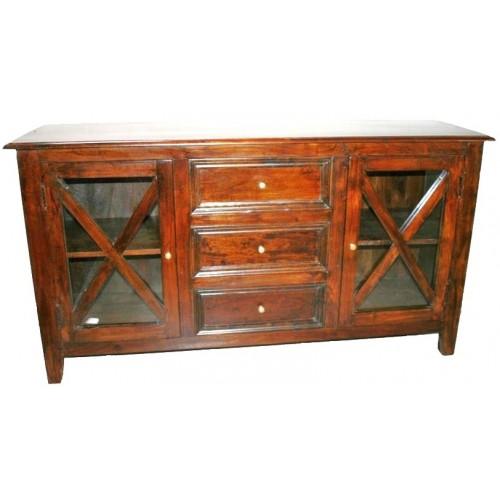 Aparador de madera maciza de teca estilo rustico