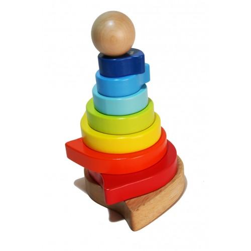 Puzle torre para Insertar de Madera para bebé juguete de coordinación