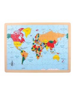 Puzzle países mares y continentes del mundo
