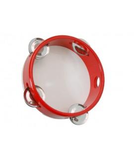 Pandereta de Madera -color Rojo-