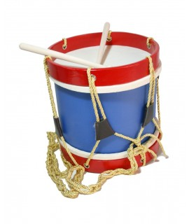 Tambor de madera banda musical. Medidas: 22xØ22cm.