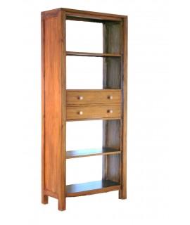 Estantería librería de madera maciza de mindi. Medidas totales: 185x80x35 cm.