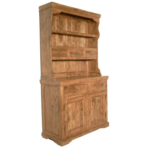 Alacena rustica de dos cuerpos de madera maciza de acacia