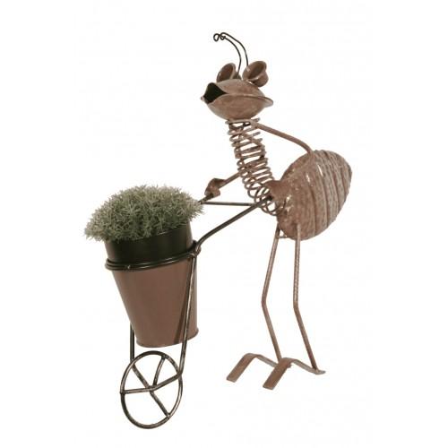 Macetero de plancha figura hormiga decoraci n hogar jardin - Maceteros metalicos ...