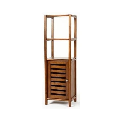 Estantería baja de madera con puerta mueble auxiliar