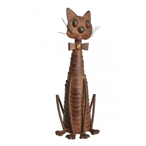 Gato de metal sentado