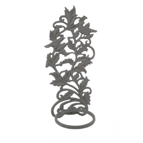 Porta tiestos para colgar hierro fundido figura p jaros - Maceteros de hierro ...