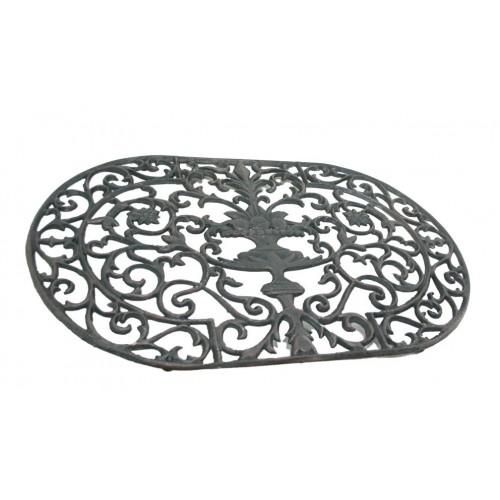 Limpiasuelas hierro fundido ovalado color negro decoraci n for Hierro colado