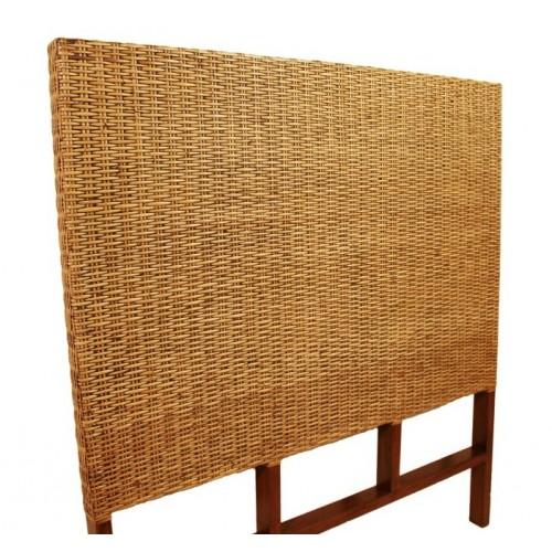 Cabezal en madera y rat n para cama de 90 cm decoraci n - Cabezal de madera ...