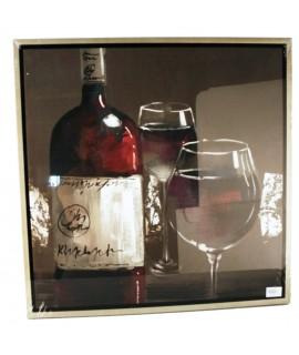 Quadre pintat a l'oli ampolla de vi