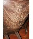 Mesa Africana de madera iroko con asientos decoración rústica