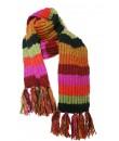 Bufanda de lana unisex multicolor verde y lila para invierno regalo original