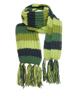 Bufanda de lana unisex multicolor verde para invierno regalo original