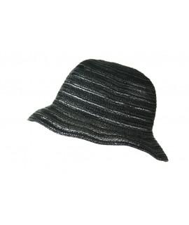 Chapeau d'été ajouré noir