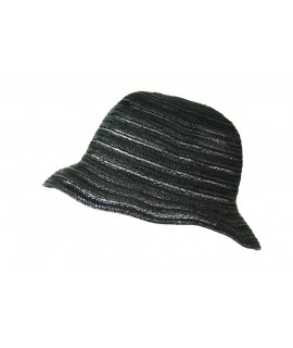 Sombrero de color negro y tejido calado para los días de primavera y verano Sombrero de calidad ideal para realizar regalo en el