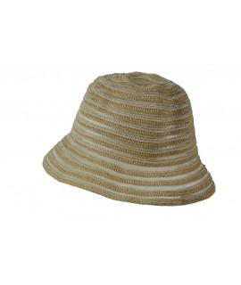 Chapeau d'été ajouré écru
