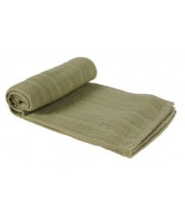 Manta color verde para el sofá y cubre butacas y cama 100% algodón