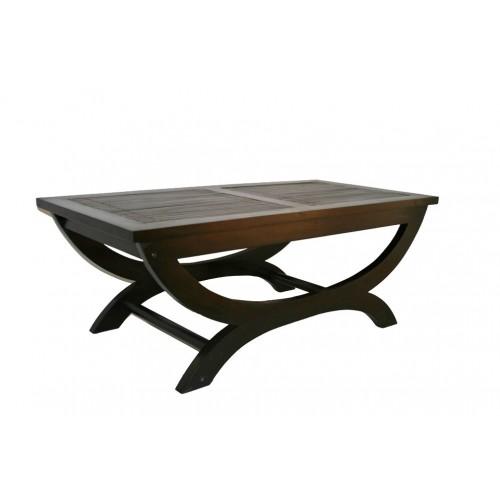Mesa de centro con madera de caoba oriental