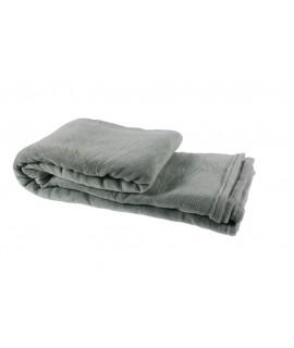 Manta básica para cama muy suave de color gris. Medidas: 230x240 cm.