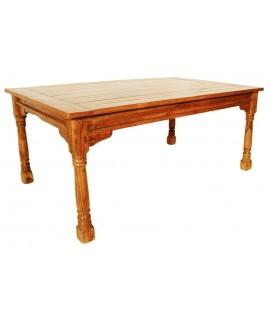 Mesa de comedor no extensible de madera maciza de acacia - Mesa acacia extensible ...