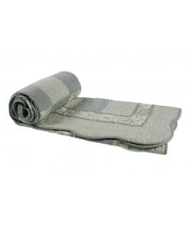 Canapé décoratif et matelassé réversible gris matelassé