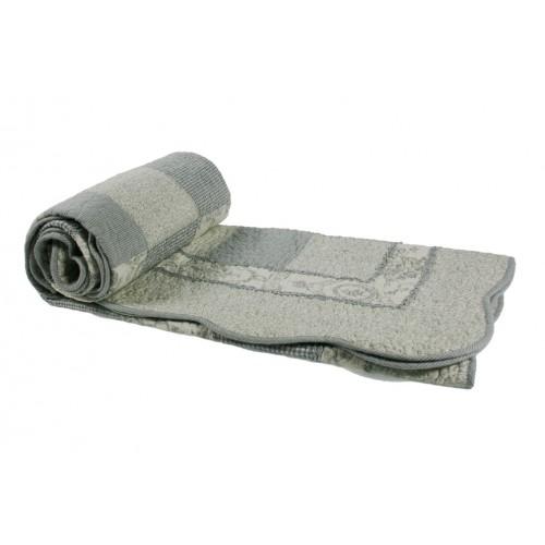 Manta acolchada decorativa para sofá y cama color gris reversible