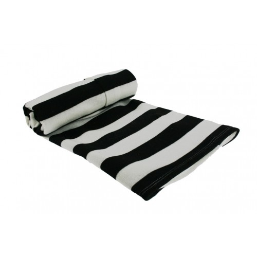 Manta Rayas Color Negro Blanco