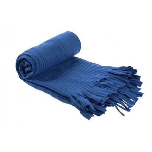 Manta para coche y sofá color azul básico