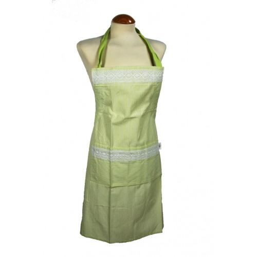Delantal Color Verde con Puntilla