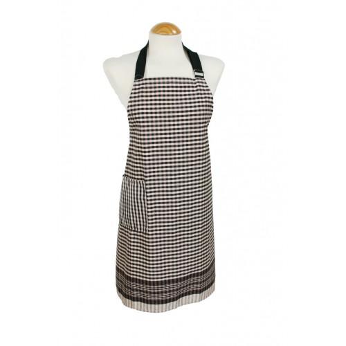 Delantal de cocina de tela de fardo ajustable de algodón con bolsillo color marrón ideal regalo para mujer y hombre delantal pa