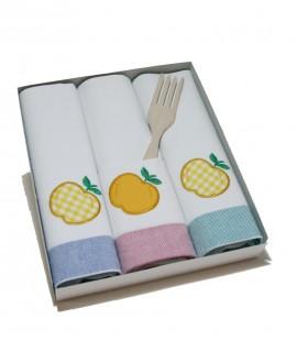 Drap de cuina blanc amb dibuix per tasca de neteja d'estris