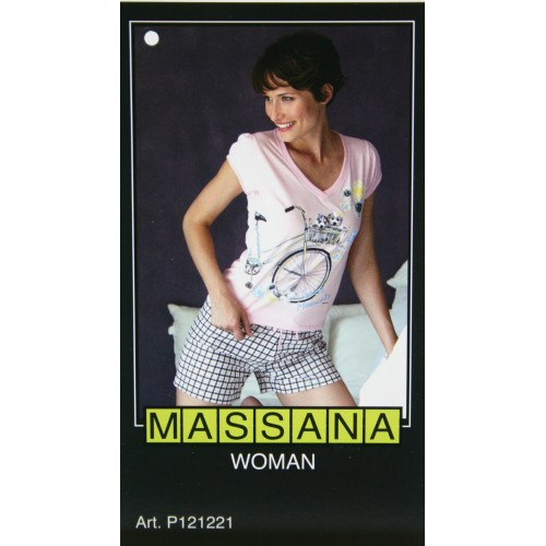 Pijama de mujer Massana verano pantalón corto color rosa
