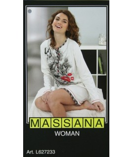 Pijama casmisola de mujer Massana invierno color blanco. Talla S