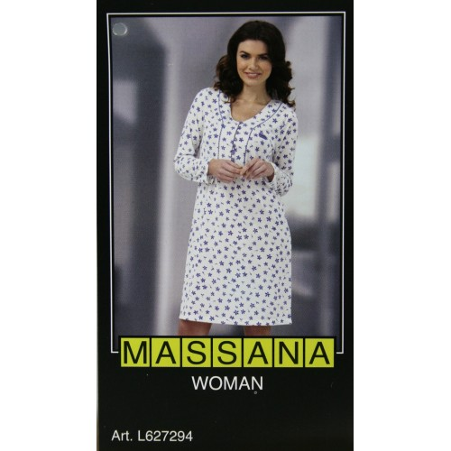 Pijama casmisola de mujer Massana invierno color estampado crudoTalla S