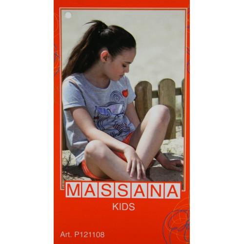 Pijama para niña Massana de verano pantalón corto talla 14